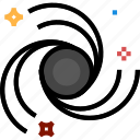 blackhole, hole, space icon icon