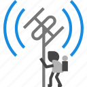 antenna, radar, satellite icon icon