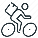 courier, delivery, cyclist, bike, express