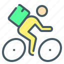 courier, delivery, cyclist, bike, express, express delivery