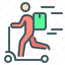 courier, delivery, scooter, express, express delivery
