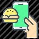 ecommerce, online, food, order, hamburger, online order, online food