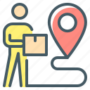 ecommerce, delivery, courier, location