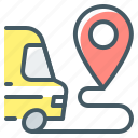 delivery, transportation, destination, point