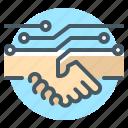 partners, handshake, untact economy, untact handshake, untact busines