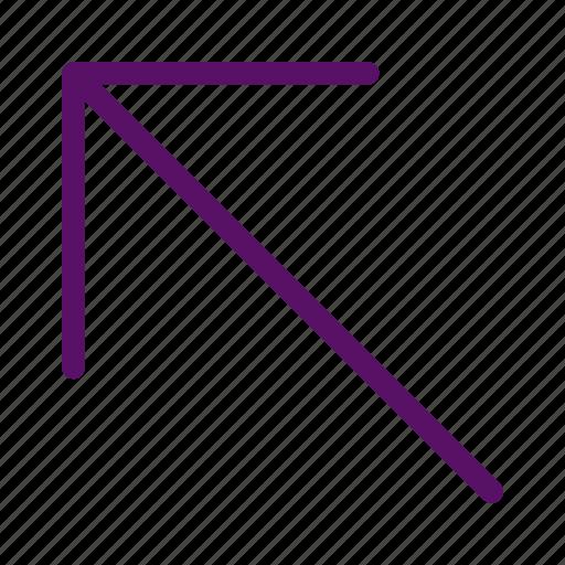 arrow, cursor, left, up, upward icon
