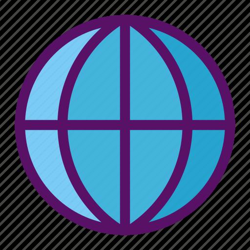 earth, globe, gps, sphere, website icon