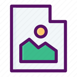 file, format, image, photo, picture icon