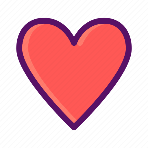 heart, like, love, prefer, valentine icon