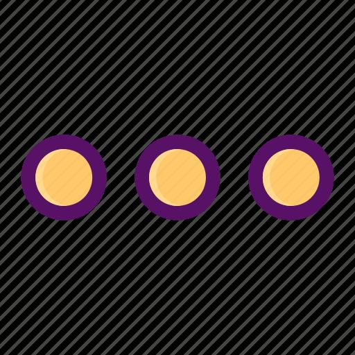 dots, menu, more, slider, waiting icon