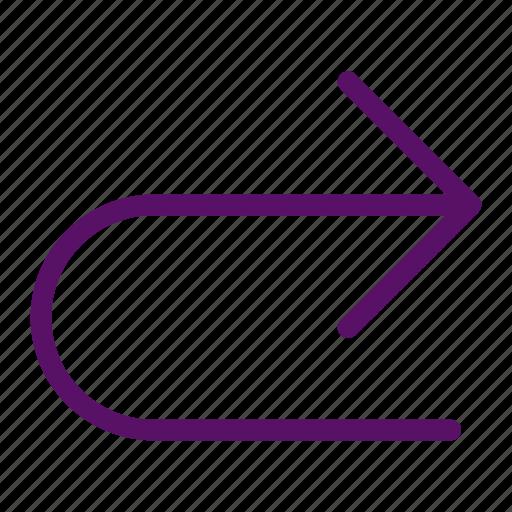 arrow, back, continue, forward, redo icon