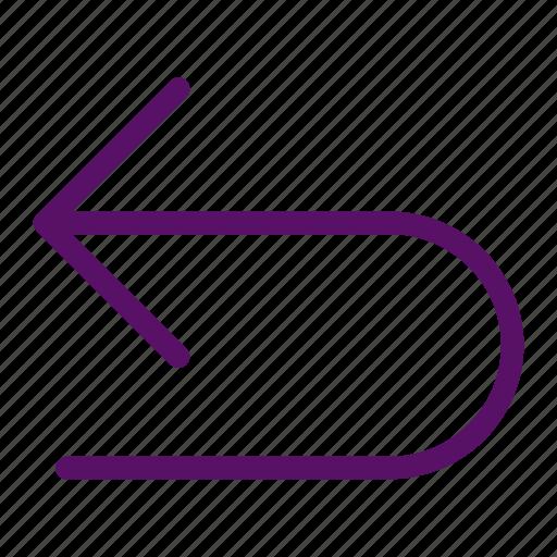 arrow, back, history, left, undo icon