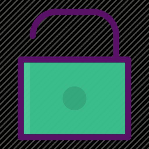 danger, lock, padlock, unlock, warning icon