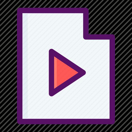 file, media, play, tube, video icon
