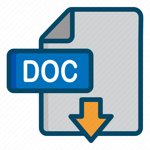 Doc Document Download File Word Icon - Word document download