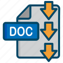 doc, document, download, file, word