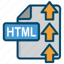 document, file, html, upload icon