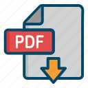 document, dowload, file, pdf