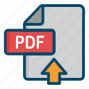 document, file, pdf, upload icon