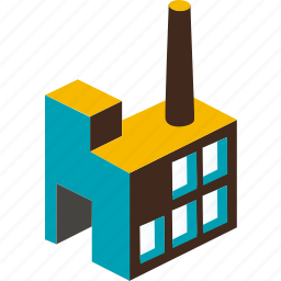 building, business, city, factory, plant, town, urban icon