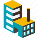 building, business, city, factory, home, plant, urban icon