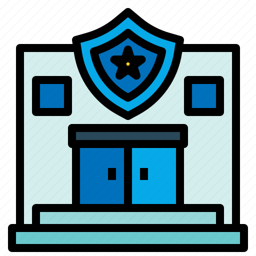buildings, jail, police, prison, security, station icon