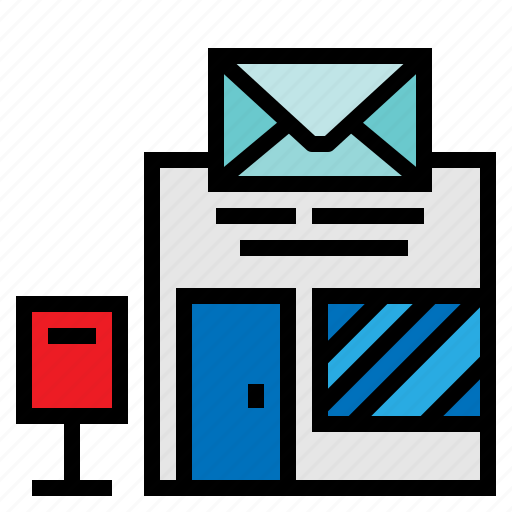 buildings, letters, mail, package, post, postal, transport icon