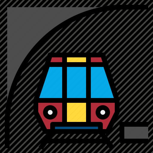 public, railway, subway, train, transport, transportation icon