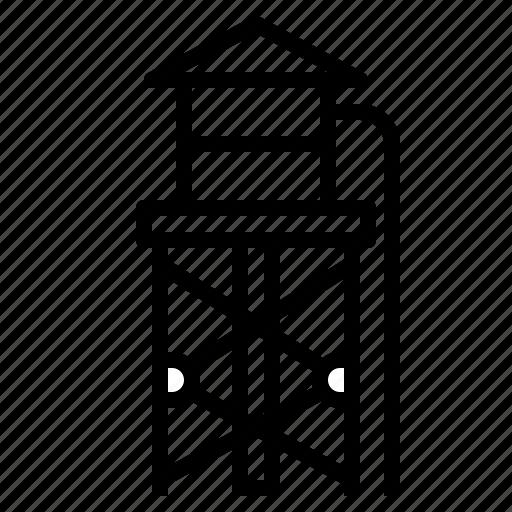 buildings, deposit, firefighter, firefighting, reservoir, tower, watering icon