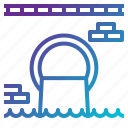 contamination, filth, industry, pollution, sewer, waste, water icon