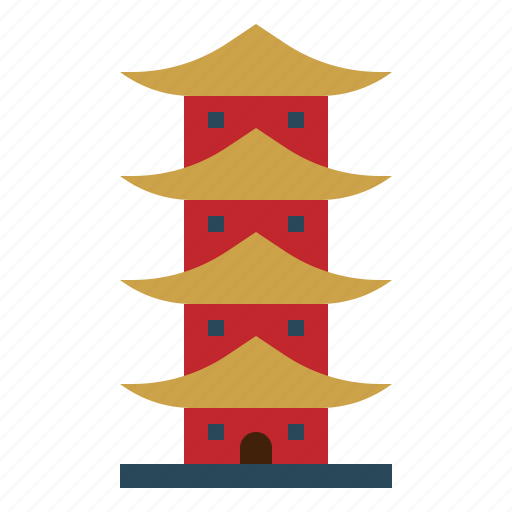 Asia, building, china, landmark, monument, monuments, pagoda icon - Download on Iconfinder
