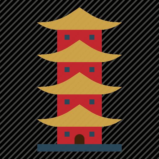 asia, building, china, landmark, monument, monuments, pagoda icon
