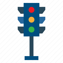 buildings, business, light, signaling, transportation icon