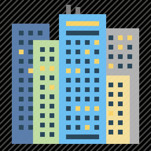 buildings, skyscraper, skyscrapers, town, urban icon