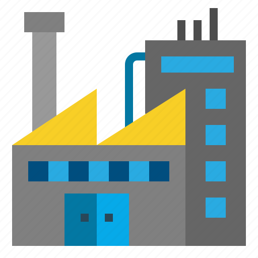 buildings, contamination, factory, industrial, industry, landscape, pollution icon