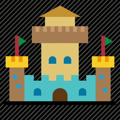 Buildings, constructions, medieval, monuments, fantasy, castle, landscape icon