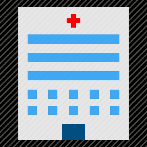 Urban, buildings, hospital, clinic, health, medical, architectonic icon