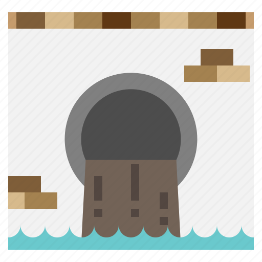 contamination, filth, industry, nature, pollution, waste, water icon