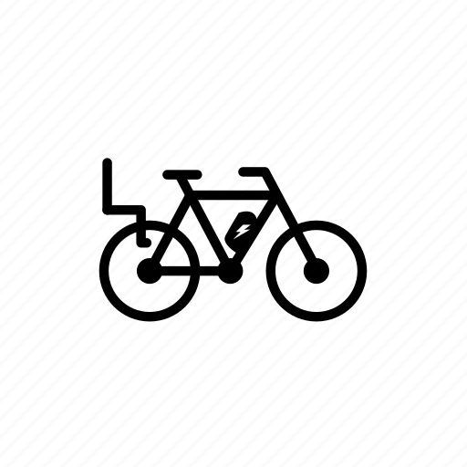bike, electric, electric bike, kid seat, mobility, traffic, transport icon