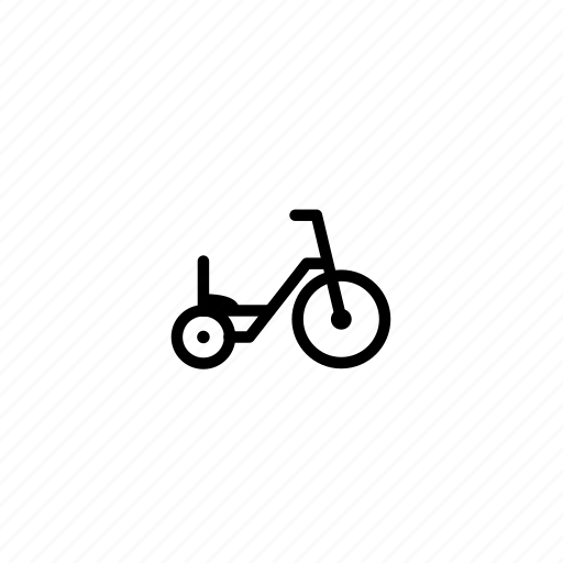 bike, kids, mobility, toy, transportation, tricycle, vehicle icon