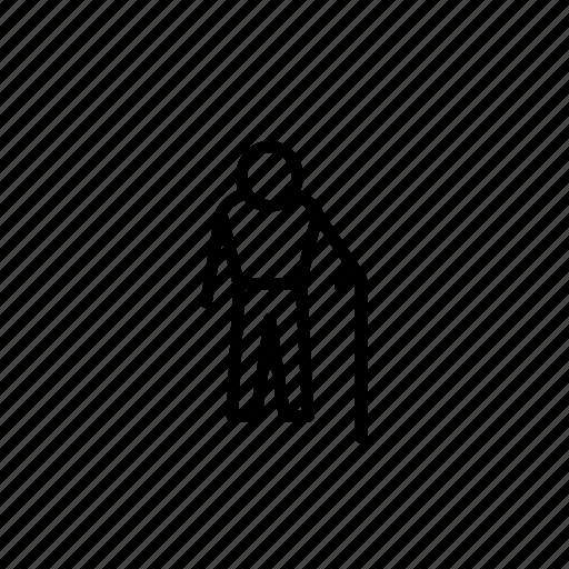 male, man, mobility, old man, pedestrian, person, profile icon