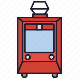 streetcar, tram, tramcar, transportation, urban transport, vehicle icon