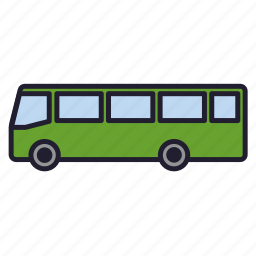 auto, bus, omnibus, transport, travel, urban transport, vehicle icon