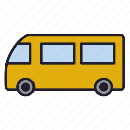 bus, minibas, omnibus, traffic, transport, urban transport, vehicle icon