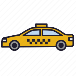 cab, car, hackney carriage, new york, taxi, taxicab, urban transport icon