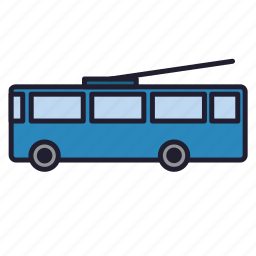 bus, trackless trolley, transport, trolley, trolleybus, urban transport icon
