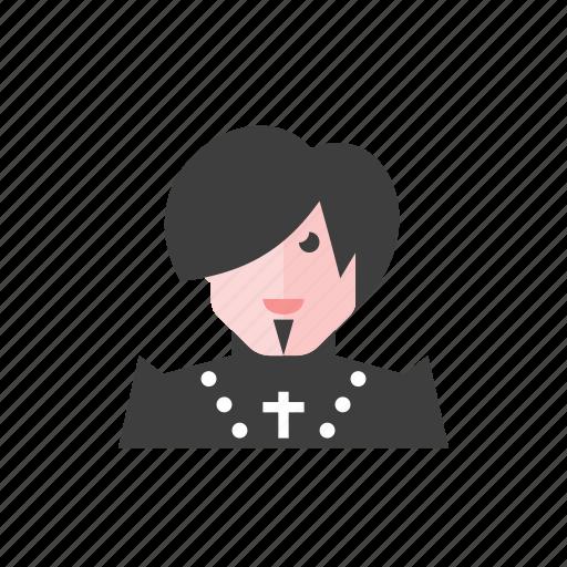 gothic, man icon