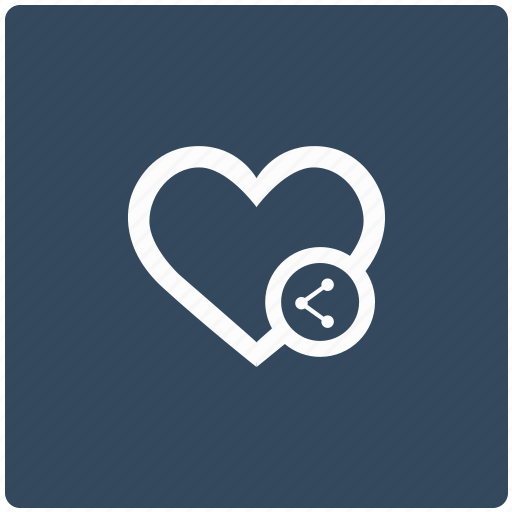 function, heart, like, love, share icon
