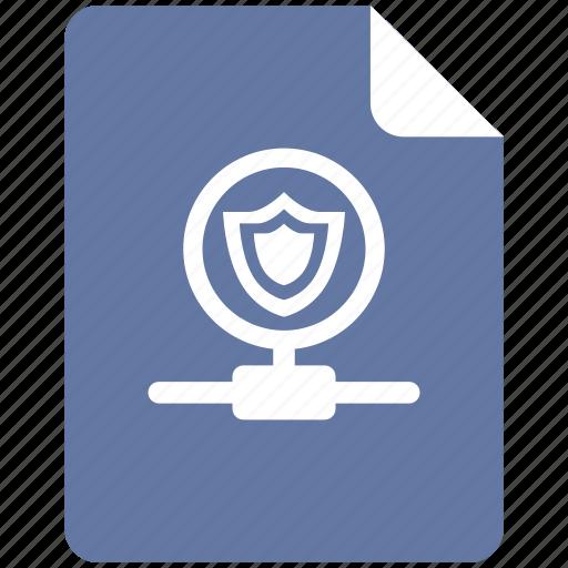 connection, hub, shield, vpn icon