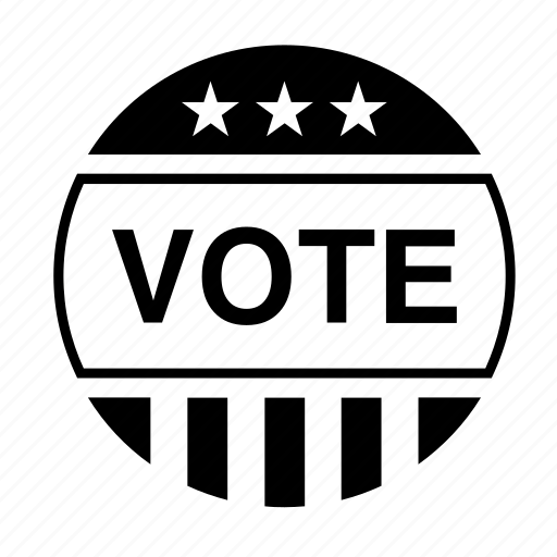 american, badge, election, politics, united states, usa, vote icon